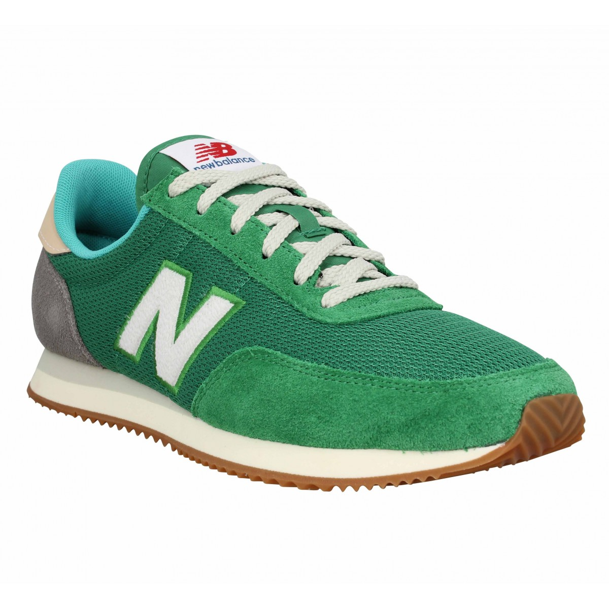 NEW BALANCE 720 YB velours toile Homme-44-Vert Cuir Textile ...